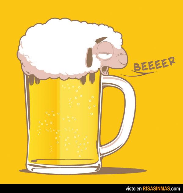 Una cerveza absurda
