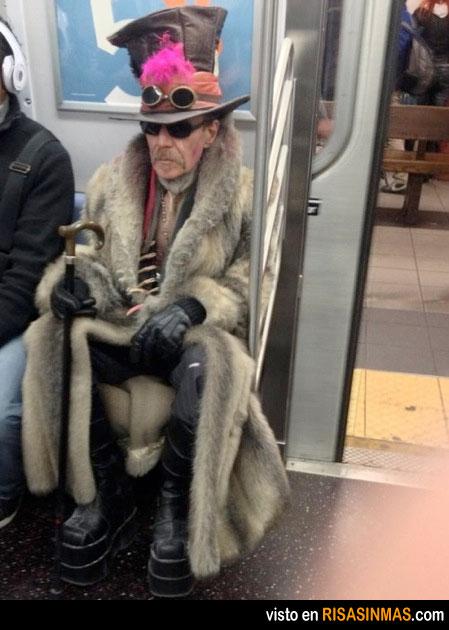 ¿A dónde va este señor?
