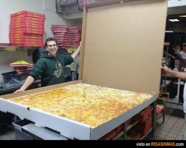 Llegan las nuevas pizzas de un metro cuadrado