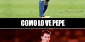 Como Pepe ve a Messi