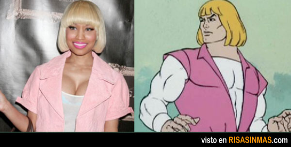 Parecidos razonables: Nicki Minaj y He Man