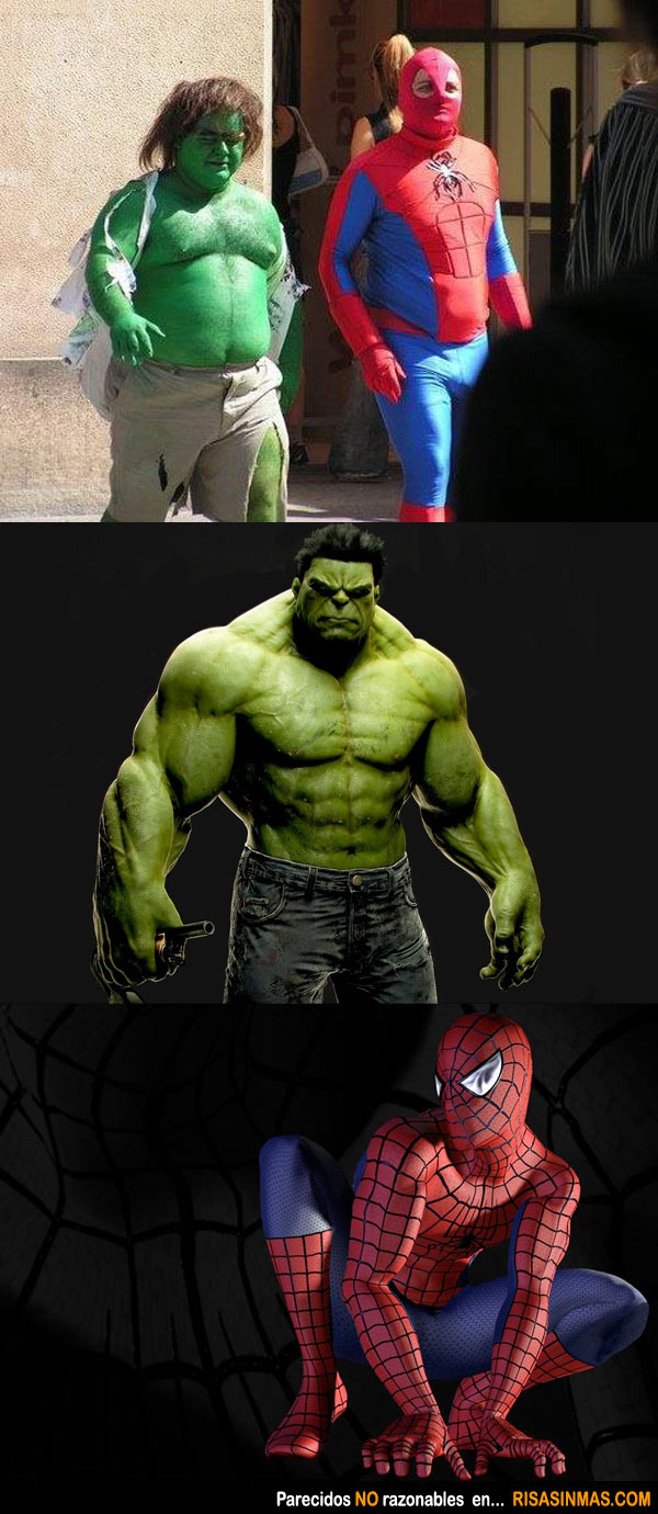 Parecidos NO razonables Hulk y Spiderman