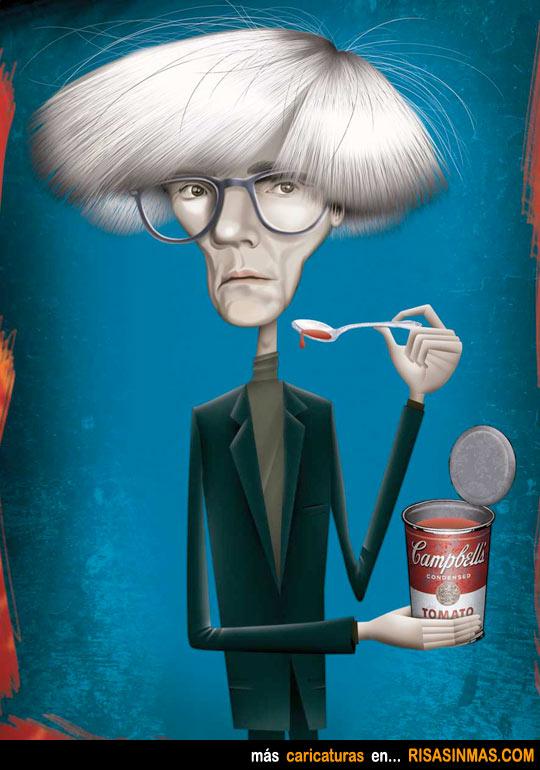 Caricatura de Andy Warhol