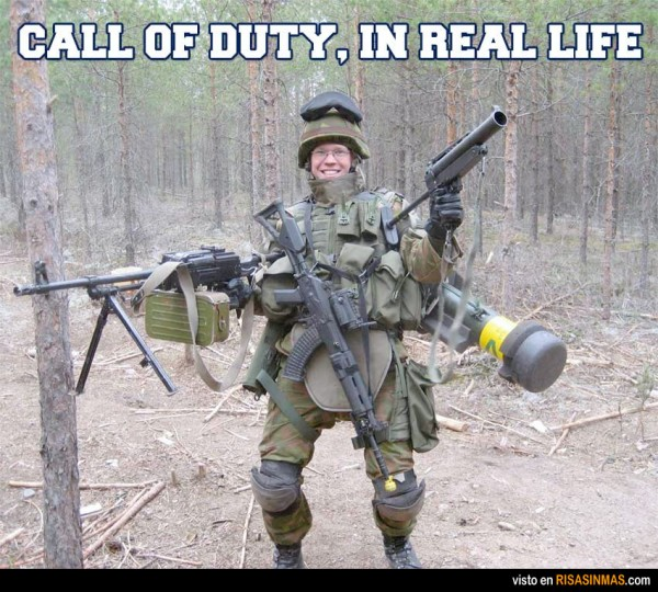Call of Duty en el mundo real