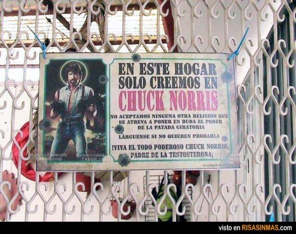 Aquí sólo creemos en Chuck Norris