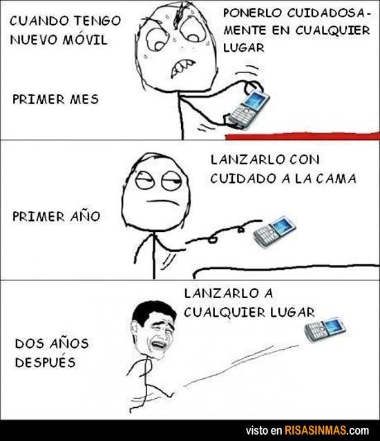 Evolución de tener un móvil