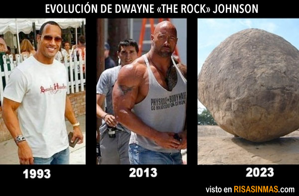 Evolución de Dwayne The Rock Johnson