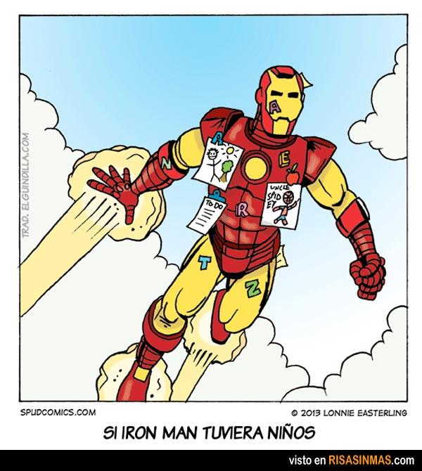 Si Iron man tuviera niños