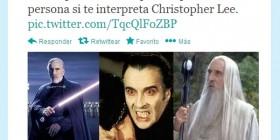 La cara de Christopher Lee