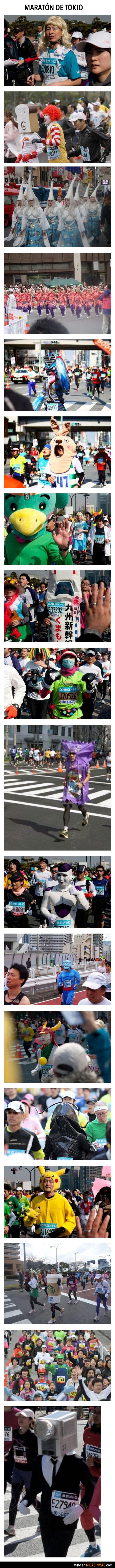 Imágenes de la maratón de Tokio