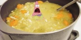 Patricio hasta en la sopa