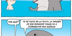 Tiburón asustado