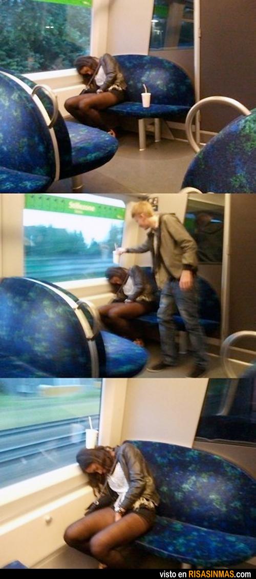 Un gracioso en el tren