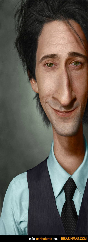 Caricatura de Adrien Brody