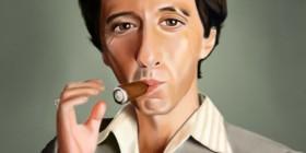 Caricatura de Al Pacino (Scarface)