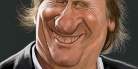 Caricatura de Gerard Depardieu