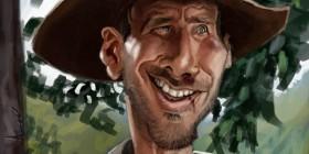 Caricatura de Indiana Jones