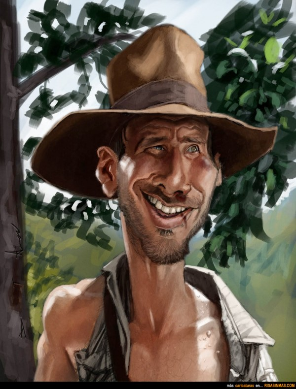 Caricatura de Indiana Jones