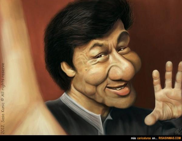 Caricatura de Jackie Chan