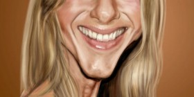 Caricatura de Jennifer Aniston