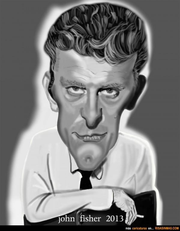 Caricatura de Kirk Douglas