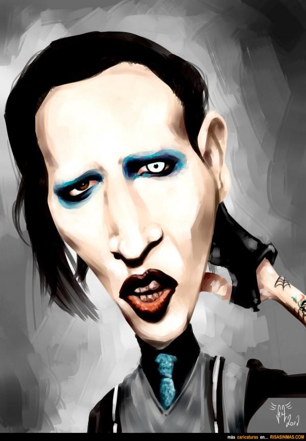 Caricatura de Marilyn Manson