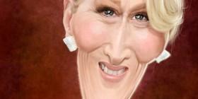 Caricatura de Meryl Streep