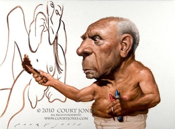 Caricatura de Picasso
