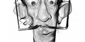 Caricatura de Salvador Dali