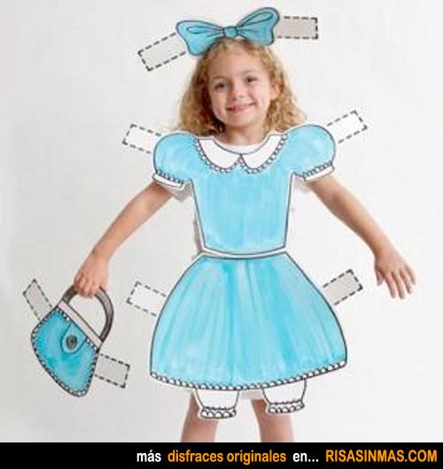 Disfraces caseros: muñeca recortable