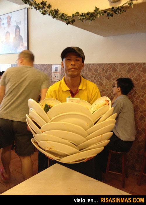 ¿El mejor camarero del mundo?