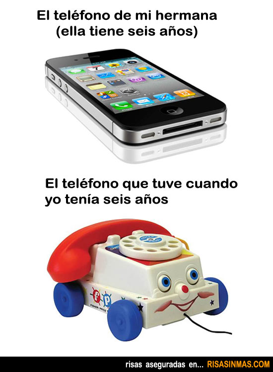 El teléfono con el paso de los años