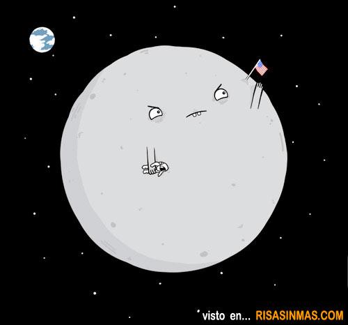 La luna se defiende