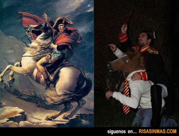 Parecidos NO razonables: Napoleón cruzando los Alpes