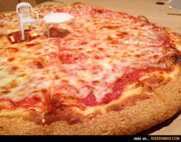 Picnic en una pizza