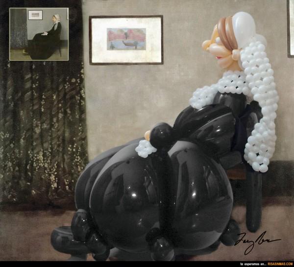 Retrato de la madre del artista versión Airigami