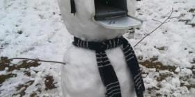 Buzón muñeco de nieve