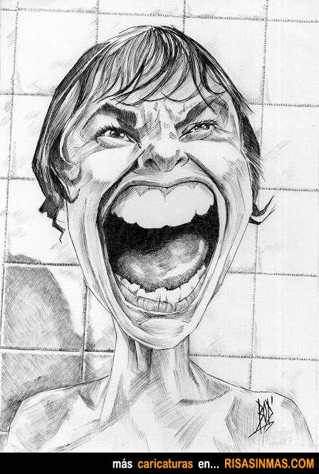 Caricatura de Janet Leigh en Psicosis (1960)