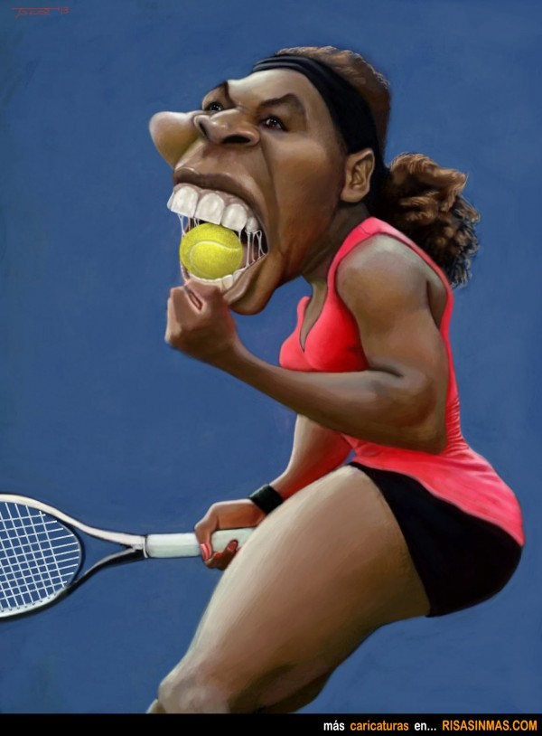 Caricatura de Serena Williams
