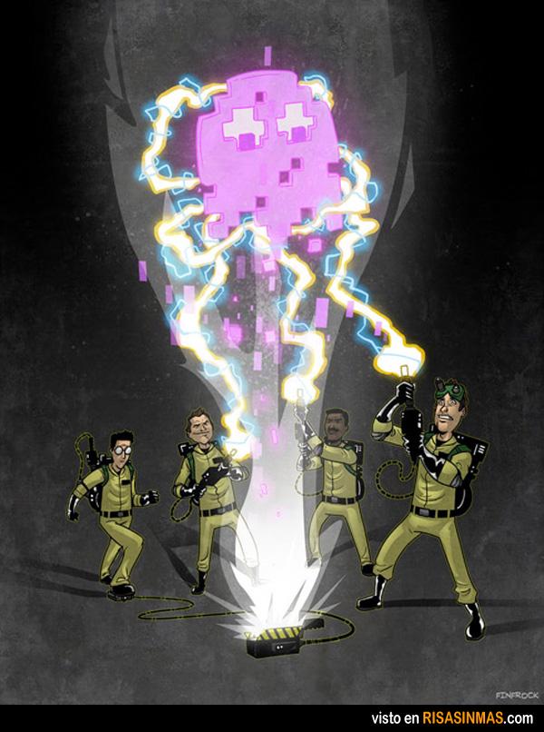 Los cazafantasmasmas ayudan a Pacman