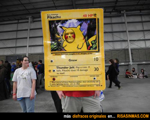 Disfraces originales: Carta de Pokemon, Pikachu