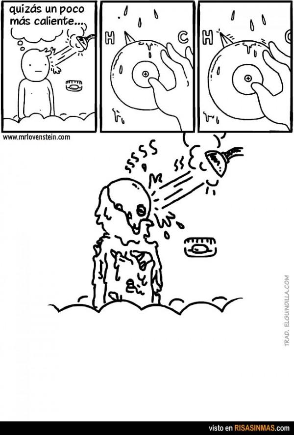 El misterio del agua caliente en la ducha