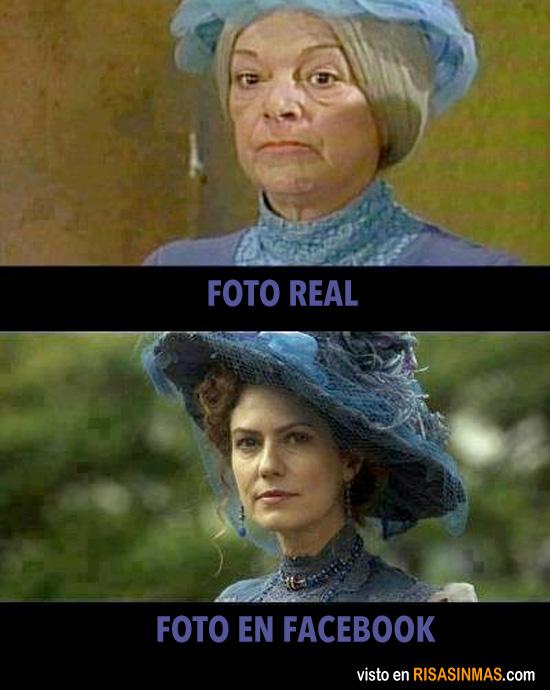 Foto real y foto en Facebook