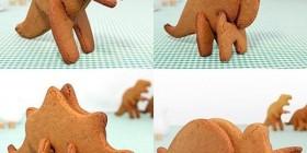 Galletas con forma de dinosaurios en 3D