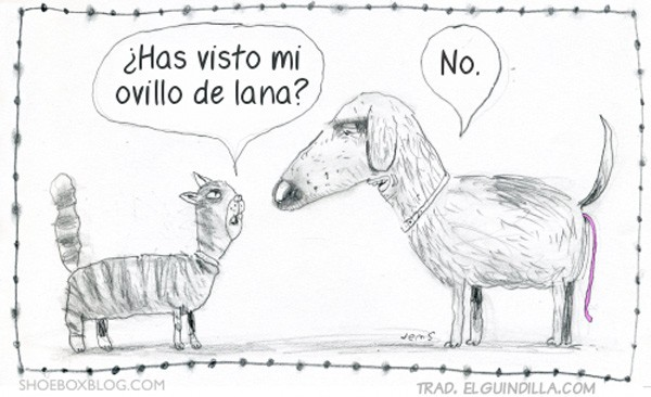 ¿Has visto mi ovillo de lana?