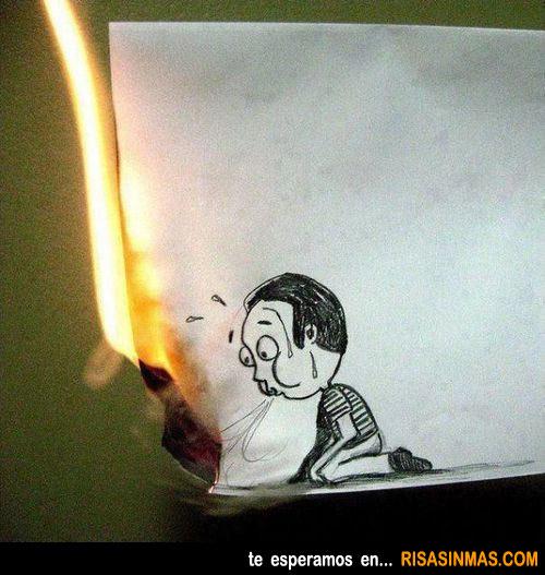 Intentando apagar el fuego