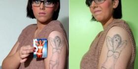 Los tatuajes más feos del mundo: Chica en bikini