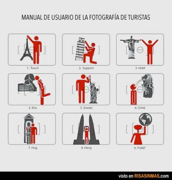 Manual de usuario de la fotografía de turistas