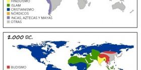 Mapa de las religiones