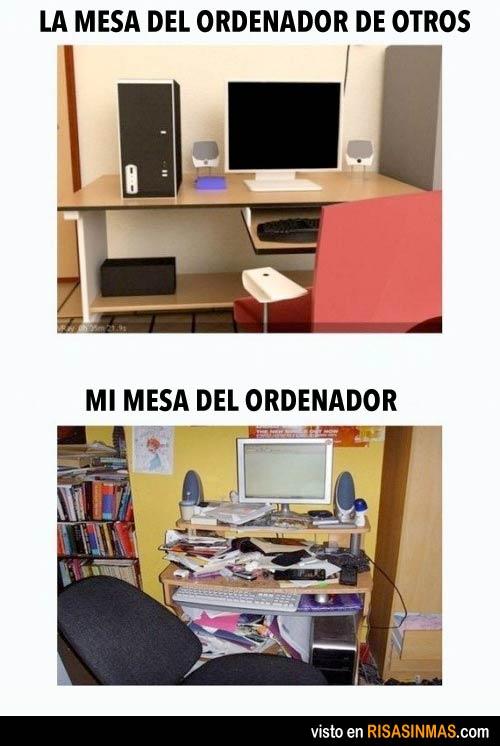Mi mesa del ordenador